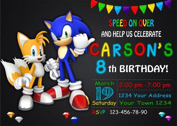 Sonic the Hedgehog Birthday Invitation by DigitalSentiments – Sonic Birthday Invitations