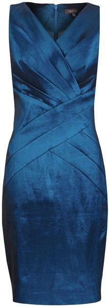 Alexon Blue Taffeta Dress