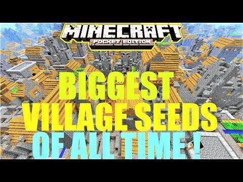 Mcpe 1 2 5 Massive Village 100 Vllages Minecraft Pe City Map Youtube Minecraft Seed Minecraft Tips Minecraft Construction