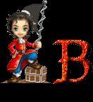 Alfabeto animado de pirata con bandera. | Oh my Alfabetos!