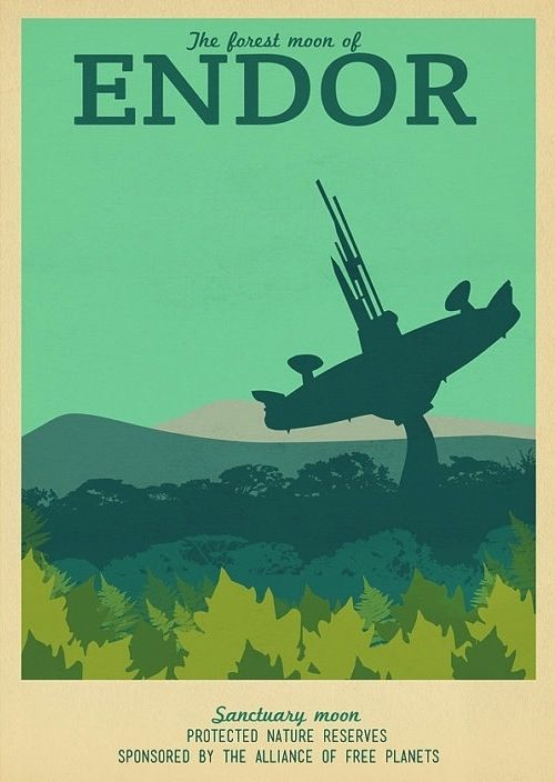 19 Travel Posters Of Your Favorite Imaginary Locations