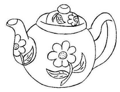 Pin By Emily Pinzon On Cortadores Galletas Tea Pots Hand Embroidery Coloring Pages