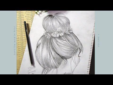 طريقه رسم كعكه الشعر من الخلف خطوه خطوه How To Drawing Hair Easily Youtube My Drawings Female Sketch Drawings