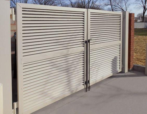 Louvered Panels | Alumi-Guard: Ornamental Aluminum Fencing