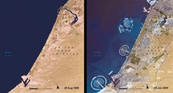 Coastal development, United Arab Emirates.