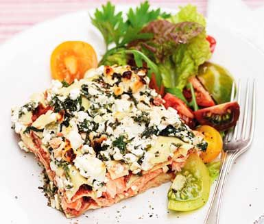 how to make lasagna with feta cheese