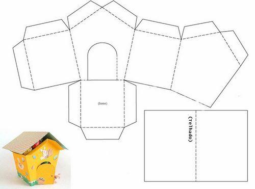 Podelki Iz Bumagi Svoimi Rukami Dlya Detej Shemy I Shablony Legkie I Interesnye Detskie Prost Paper Crafts Diy Tutorials Paper Box Template Cardboard Cat House