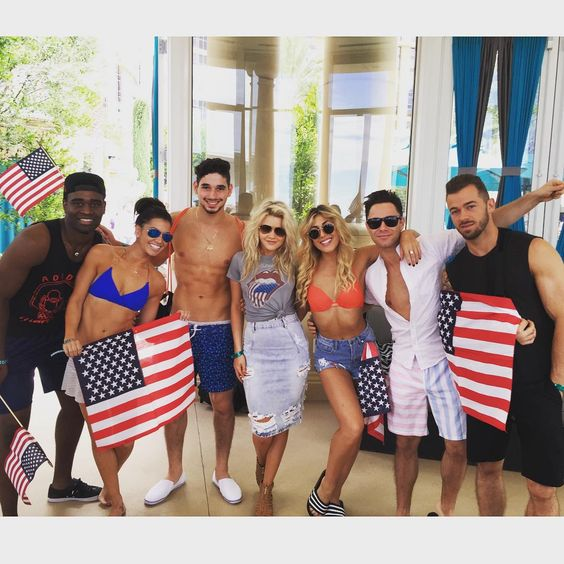 "Emma Slater on Instagram: ""Happy 4th July from the #DWTStour cast!!! ✌️ @dancingabc"""