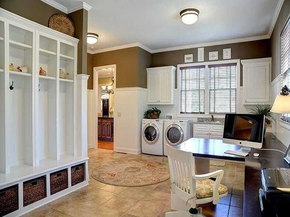 Mud room laundry room office very sufficient for Laundry room office
