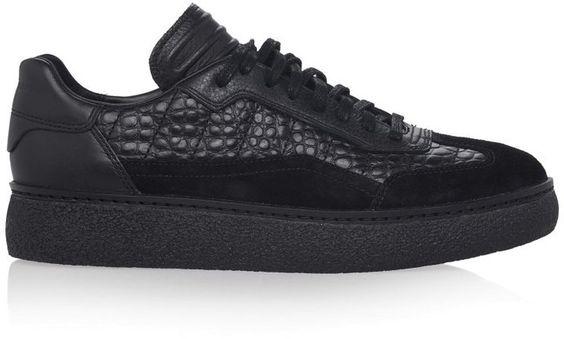 Eden Low Top Croc-effect Sneakers