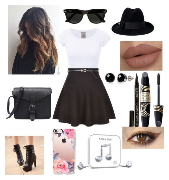 """""""Untitled #119"""" by tatianazapatat ❤ liked on Polyvore featuring New Look, Colorful Shoes, Gucci, Max Factor, Smith & Cult, Belk & Co., Ray-Ban, Casetify and Happy Plugs"""