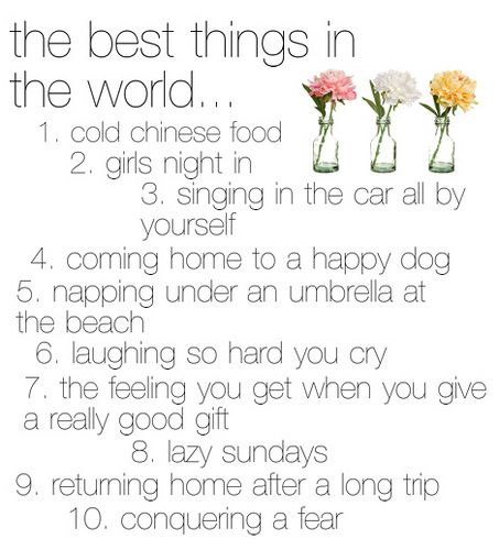 the best things in the world...