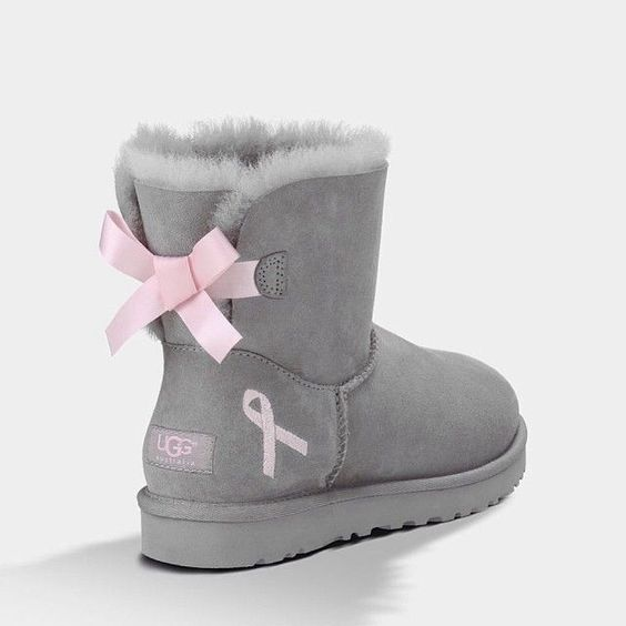 uggs pantoffels pink ribbon