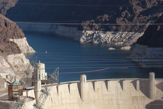 Hoover Dam at Lake Mead, NV/AZ #hoover #dam