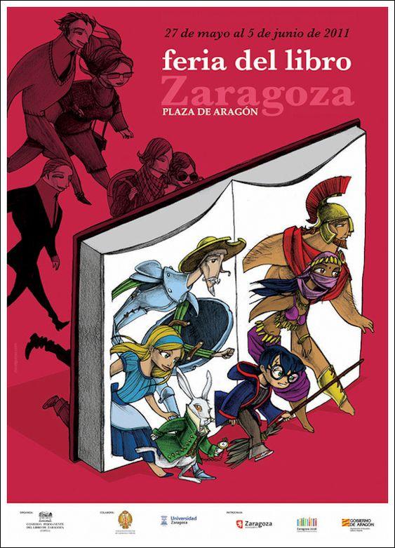 Cartel de la Feria del Libro de Zaragoza 2011: