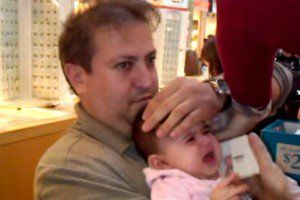 This video of a baby getting her ears pierced is cruel. BabyCentre Blog
