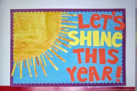 Welcome Back To School Bulletin Boards Ideas | Back to school sun bulletin board