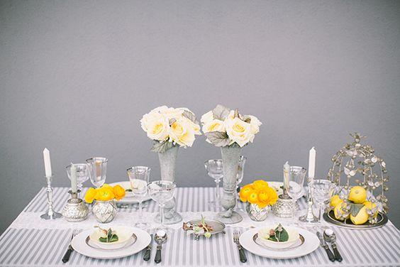 Mint, Gelb und Silbergrau machen bei diesem Style Shooting richtig Lust auf Sommer | Friedatheres