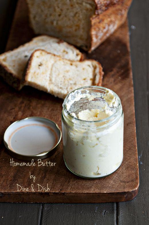 Making Homemade Butter from @Kristen @DineandDish
