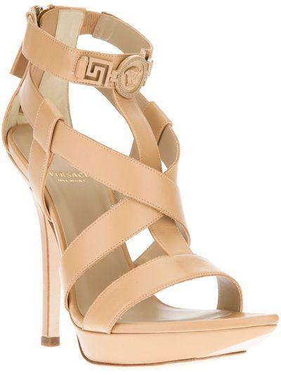 VERSACE Medusa Lacquered Stiletto Sandal