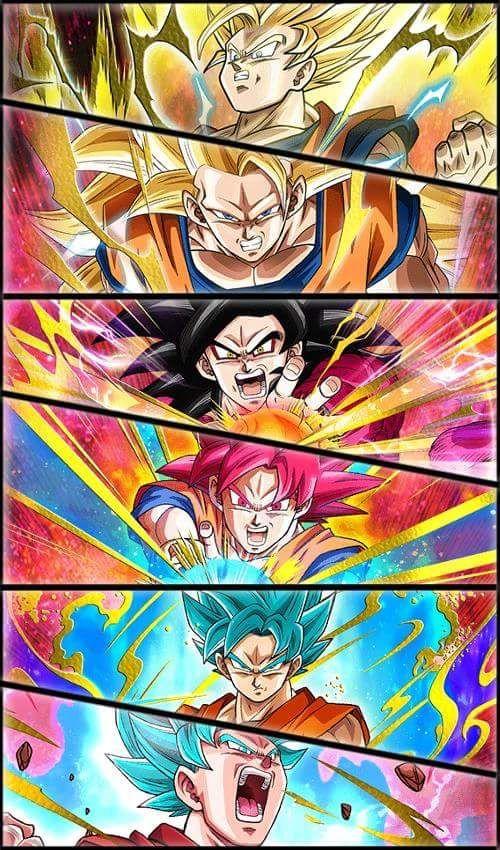 Goku Ssj2ssj3ssj4ssj Godssjgssjand Ssjgssj Kaioh Ken