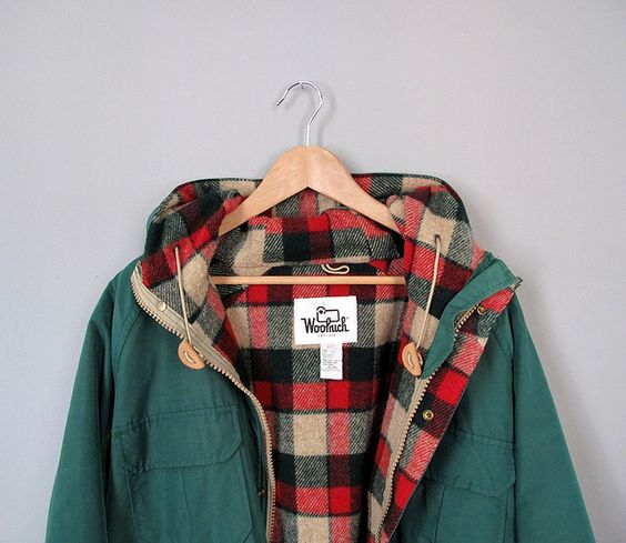 i want this!!! perfect for alaska… MEN'S WOOLRICH PARKA 2013 - Green Black Blue Super Winter Arctic Sale # 16107