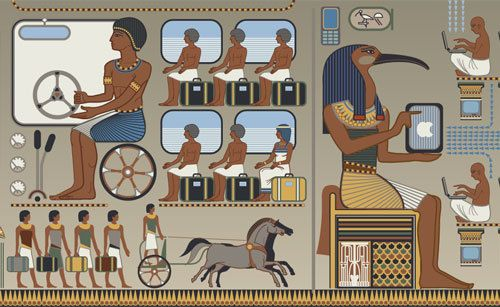 Modernized Ancient Egyptian Art (2):