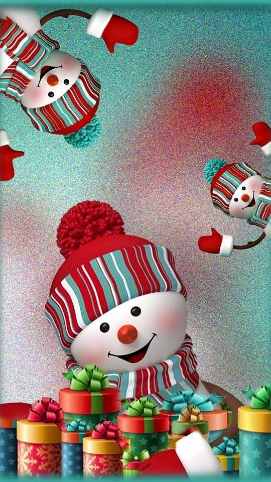 Pin By Carolyn Mcnac On Snowman Christmas Phone Wallpaper Christmas Wallpaper Christmas Wallpaper Backgrounds