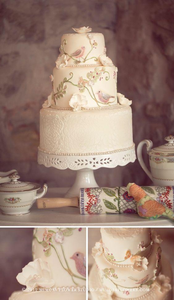 vintage spring: Spring Wedding Cakes, Vintage Wedding, Cake Wedding, Vintage Cake, Wedding Ideas, Amazing Cakes, Cakes Cakes, Beautiful Cakes, Vineyardsweets Weddingcakes