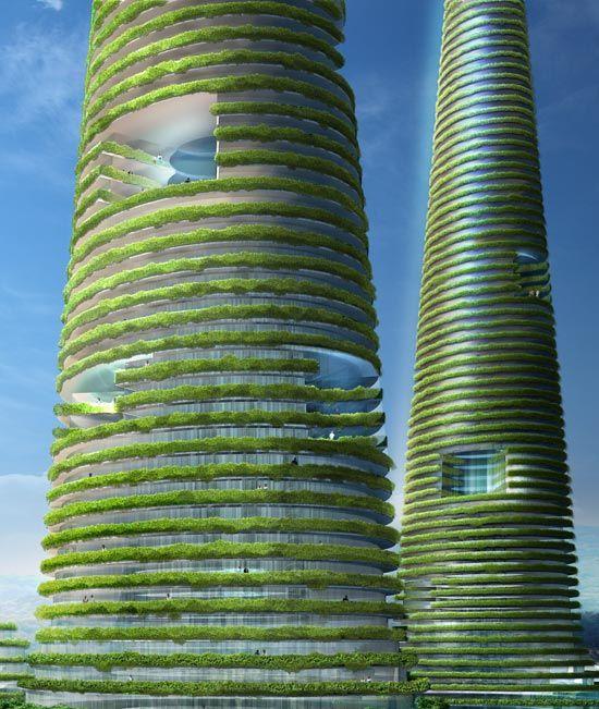MVRDV architects  Gwanggyo Power Centre  in South Korea. Más sobre ciudades sostenibles en www.solerplanet.com