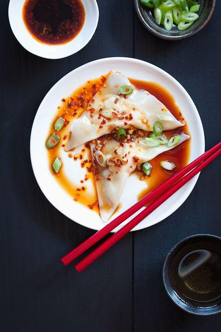Homemade Shrimp Wontons with Spicy Sauce Recipe