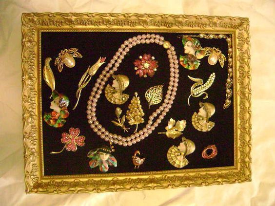 Vintage Pin Brooch Lady Face Costume Jewelry in A Frame One of A Kind Mixed Lot | eBay