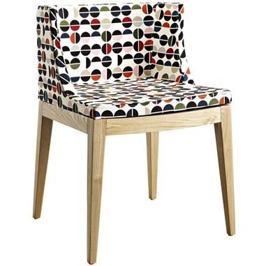 Natural Ash, Polyurethane Cushion W/Upholstery Flower Accent Chair