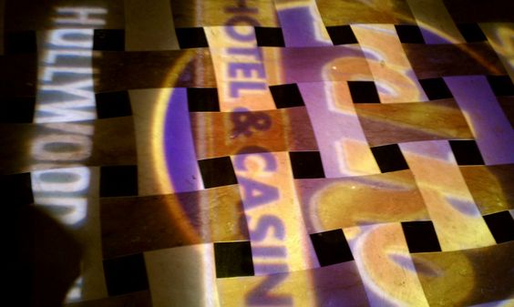 Floor lighting by the elevators at Hard Rock Hotel and Casino, Hollywood FL http://www.miamiluxuriousproductionrentals.com/