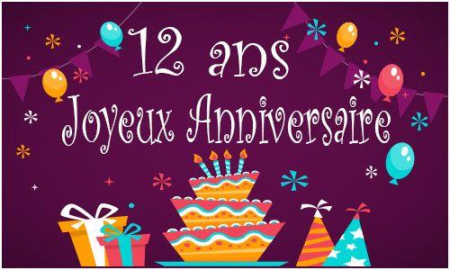 10 Cher Anniversaire 12 Ans Collection Carte Anniversaire Carte