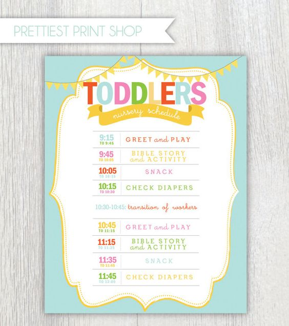 Church Nursery Pictures Google Search: Printable Nursery Or Classroom Schedule
