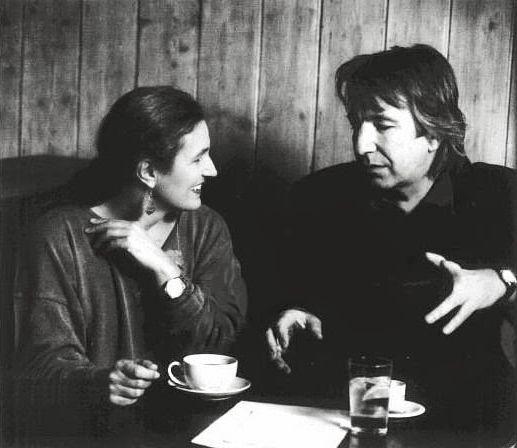 Sharman Macdonald et Alan Rickman sur le tournage de L'invité de l'hiver.
