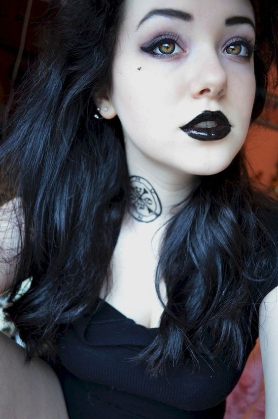 Goth neck tattoos and makeup on pinterest for Gothic neck tattoos