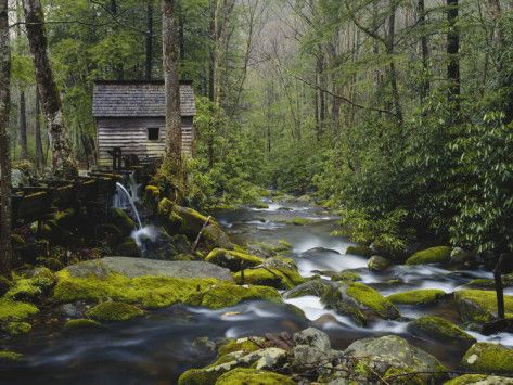 Watermill, Roaring Fork, Great Smoky Mountains National Park