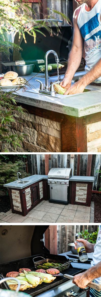 how to build your own outdoor kitchen for a fraction of the cost