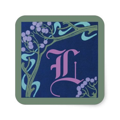 Capital Letter L Art Nouveau Stickers by Janz