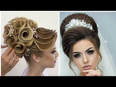 تسريحات شعرالعروس اجمل مشطات شعر خيالية 2018 Youtube In 2020 Artistic Hair Hair Wedding