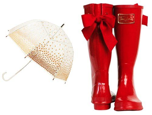 Cute Girls Red Bow Rain Boots - Red Rain Boots Bow Back. I will ...