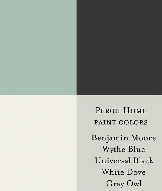 Gray Blue Paint Colors: Benjamin Moore Wythe Blue Benjamin Moore Universal Black