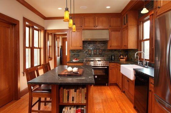 Craftsman Craftsman Kitchen And Kitchens On Pinterest