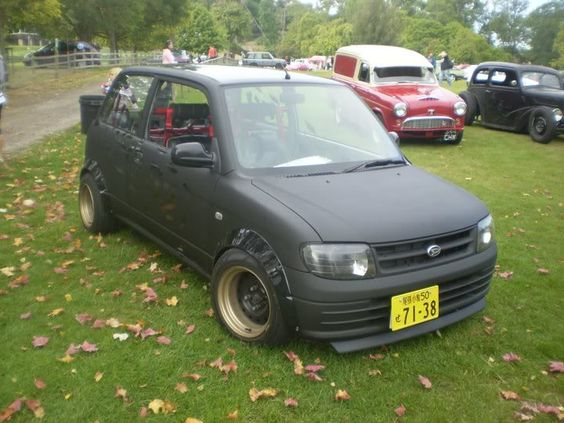 matte black daihatsu l701 mira cuore with bodykit. Black Bedroom Furniture Sets. Home Design Ideas