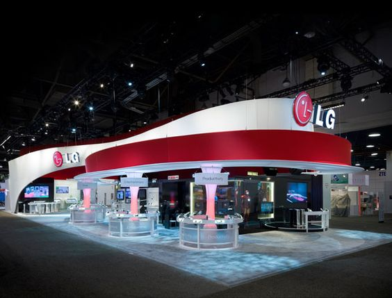 Exhibit Space for LG. Nice curves and colours. Seems well lit too.