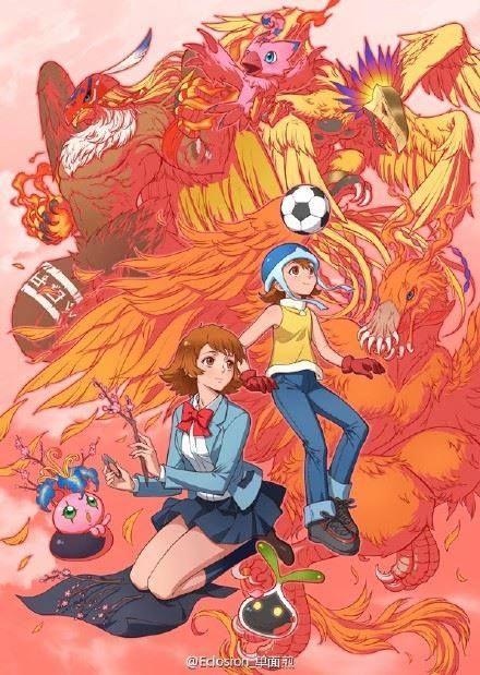 Sora y la linea evolutiva de Biyomon.