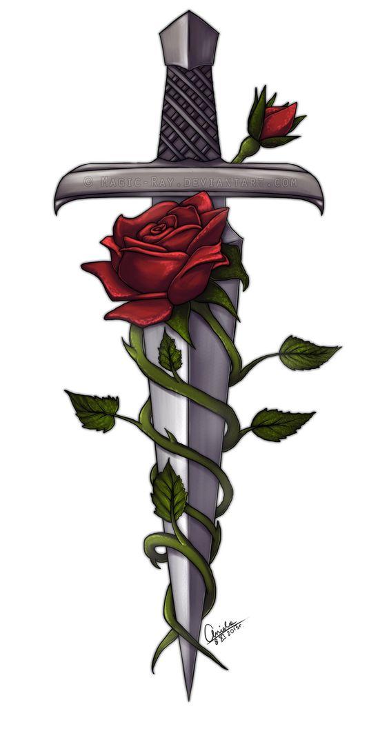 Sword And Roses By Magic Ray Deviantart Com On Deviantart