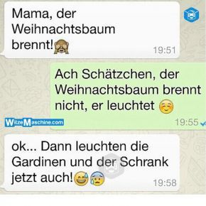 Lustige WhatsApp Bilder und Chat Fails 231 - Brennender Weihnachtsbaum